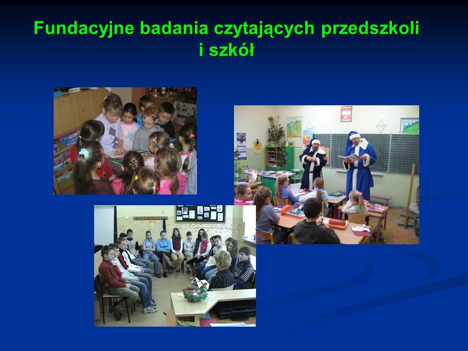 Fundacyjne badania czytających przedszkoli i szkół