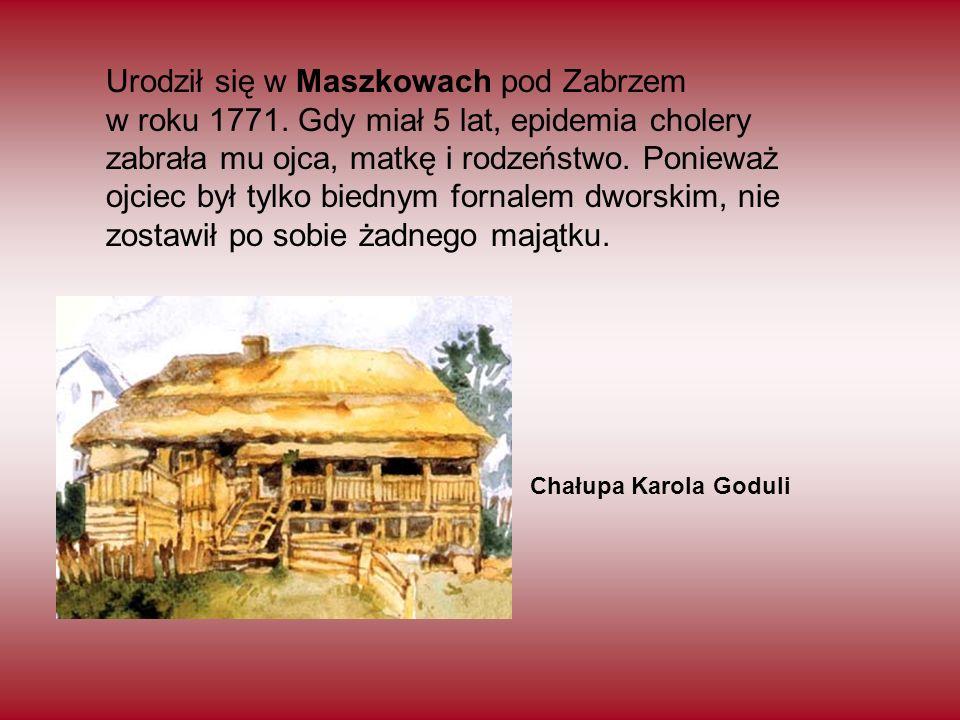 Urodził się w Maszkowach pod Zabrzem w roku 1771