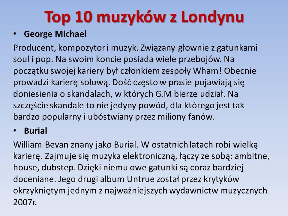 Top 10 muzyków z Londynu George Michael