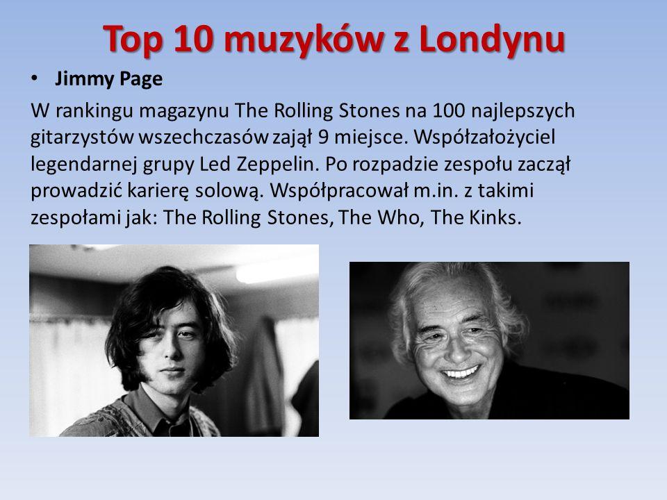 Top 10 muzyków z Londynu Jimmy Page