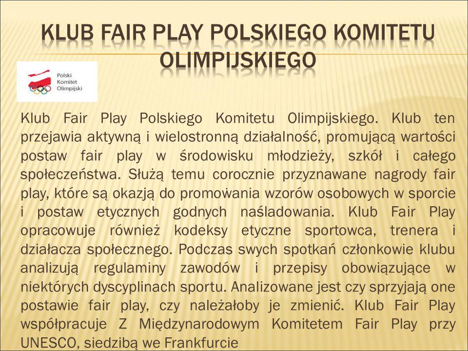 Klub fair play polskiego komitetu olimpijskiego