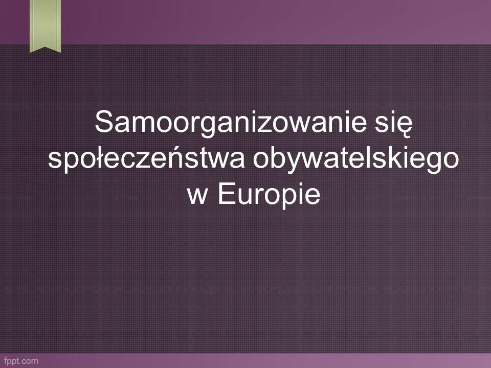 Samoorganizowanie się społeczeństwa obywatelskiego w Europie