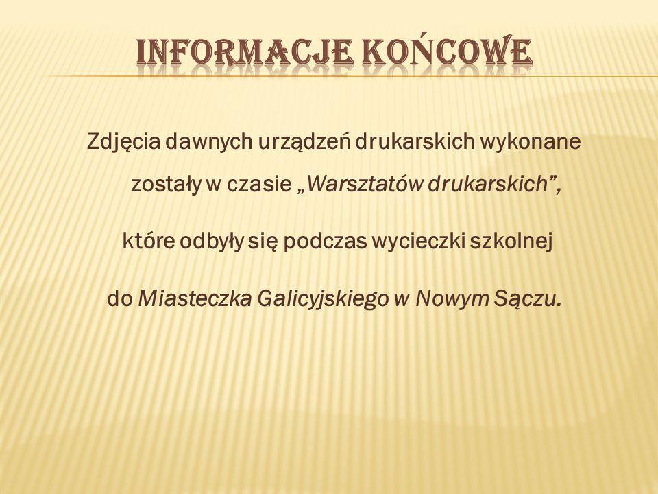 Informacje końcowe