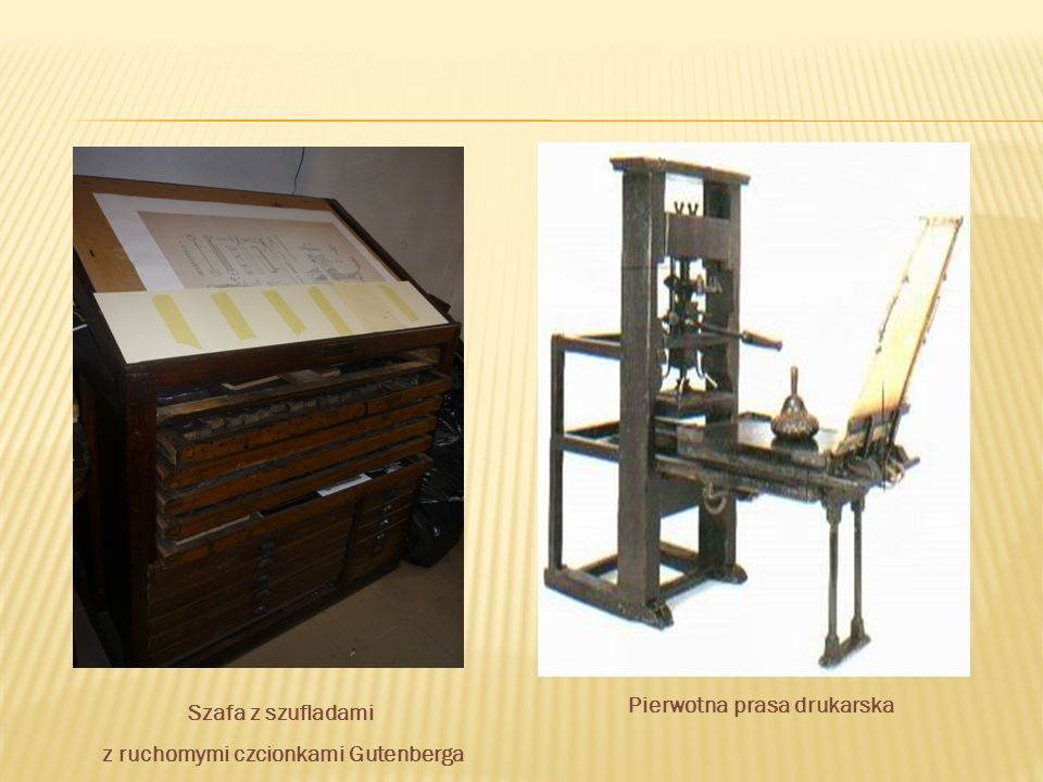 Pierwotna prasa drukarska z ruchomymi czcionkami Gutenberga