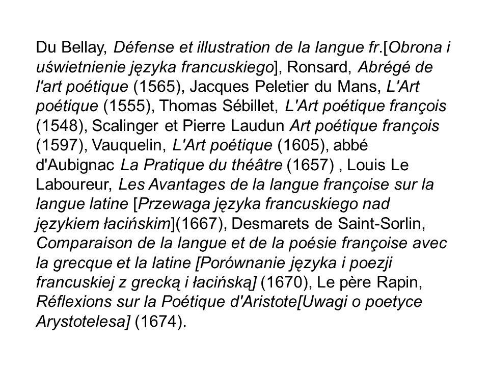 Du Bellay, Défense et illustration de la langue fr
