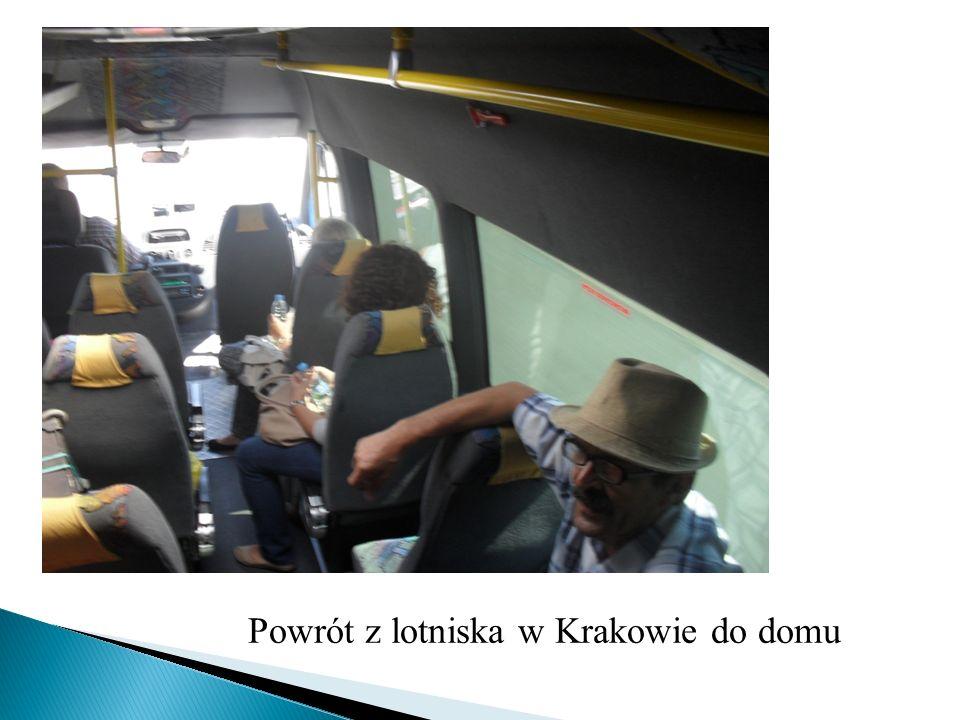 Powrót z lotniska w Krakowie do domu