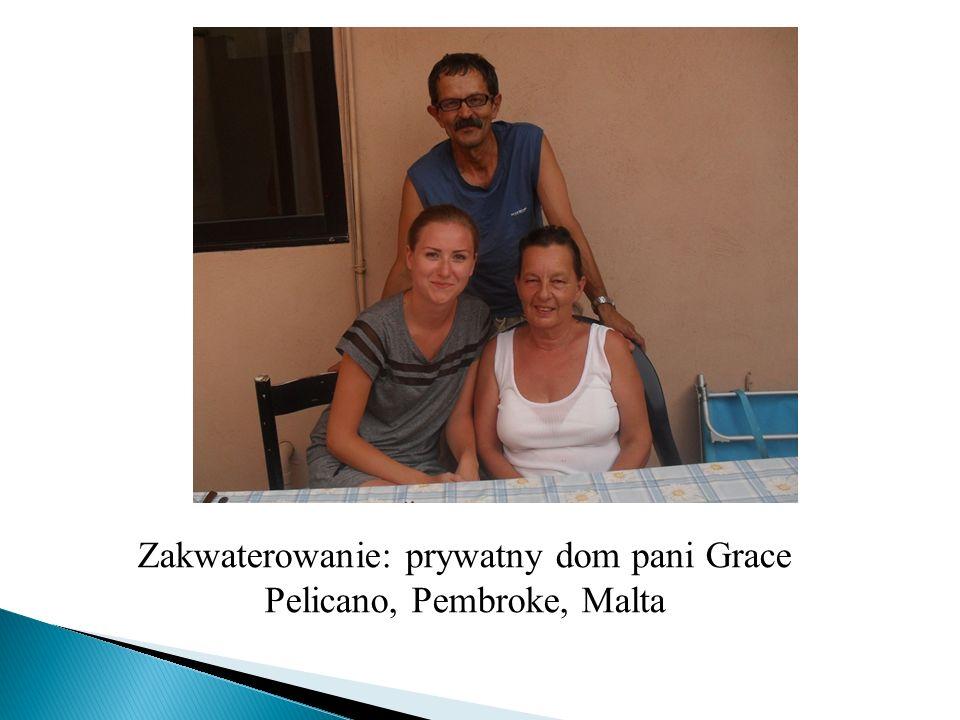 Zakwaterowanie: prywatny dom pani Grace Pelicano, Pembroke, Malta