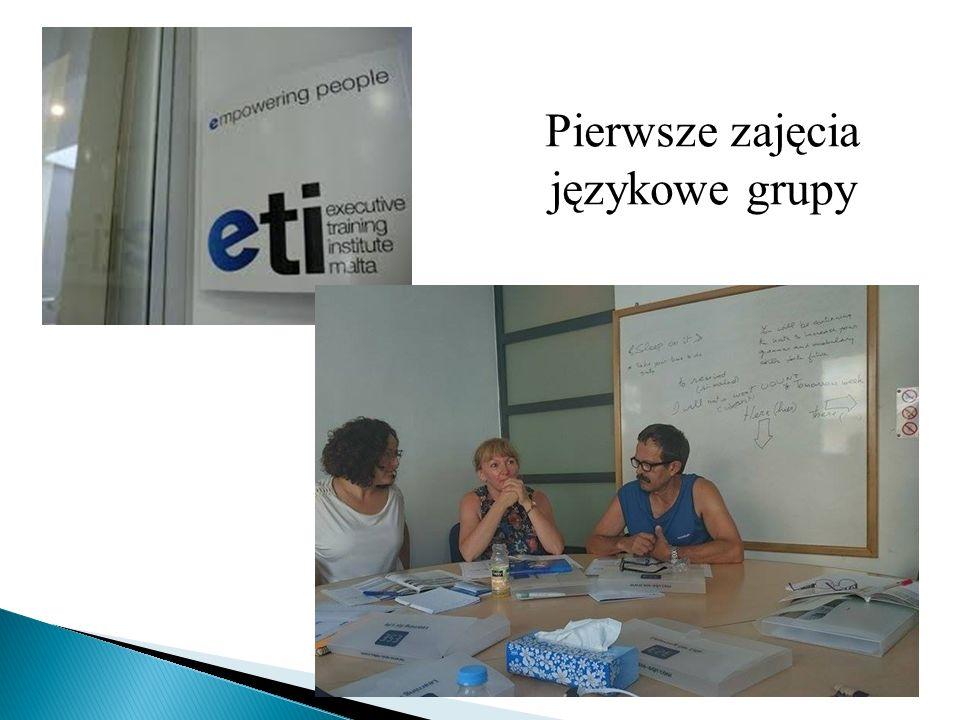 Pierwsze zajęcia językowe grupy