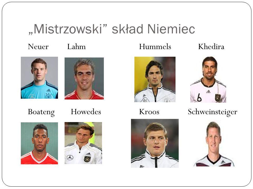 """""""Mistrzowski skład Niemiec"""