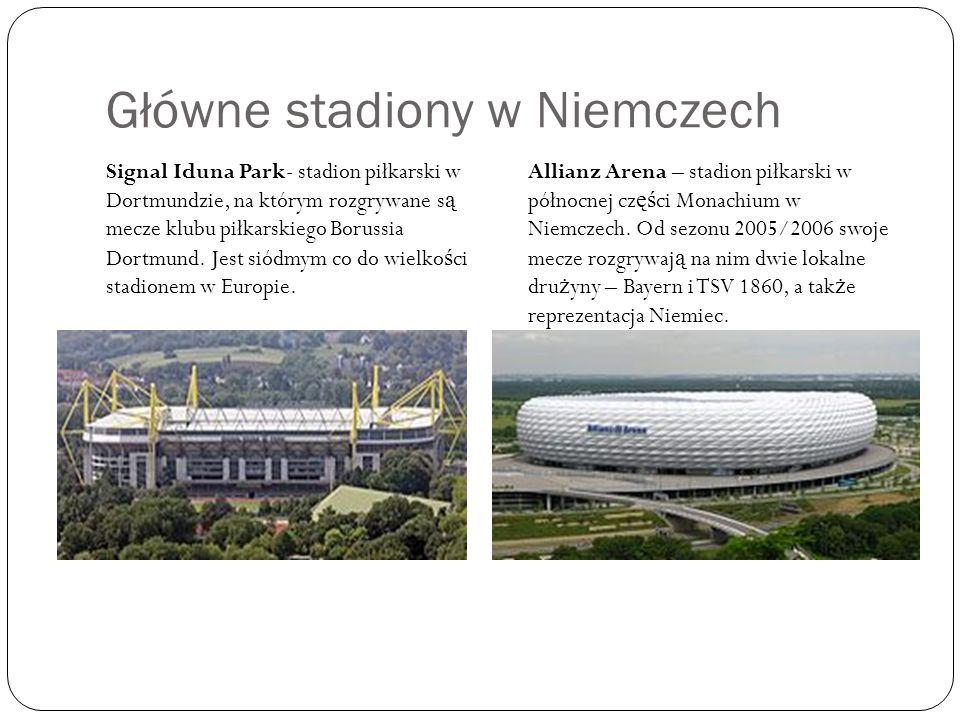 Główne stadiony w Niemczech