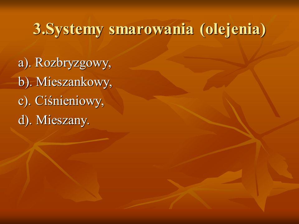 3.Systemy smarowania (olejenia)