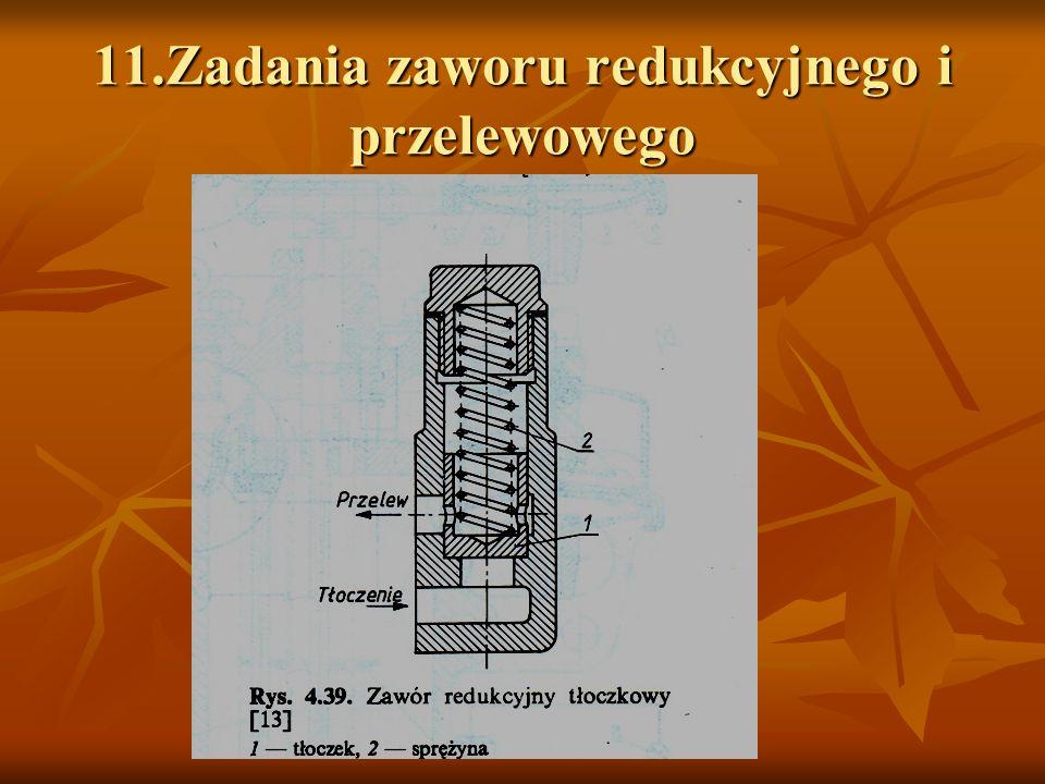 11.Zadania zaworu redukcyjnego i przelewowego