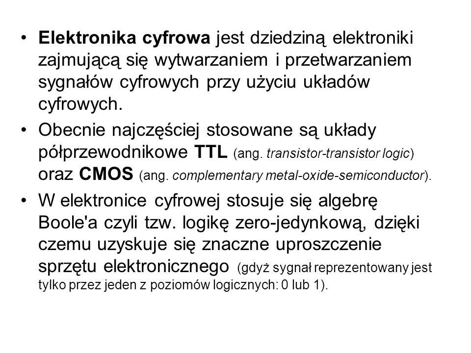 Elektronika cyfrowa jest dziedziną elektroniki zajmującą się wytwarzaniem i przetwarzaniem sygnałów cyfrowych przy użyciu układów cyfrowych.