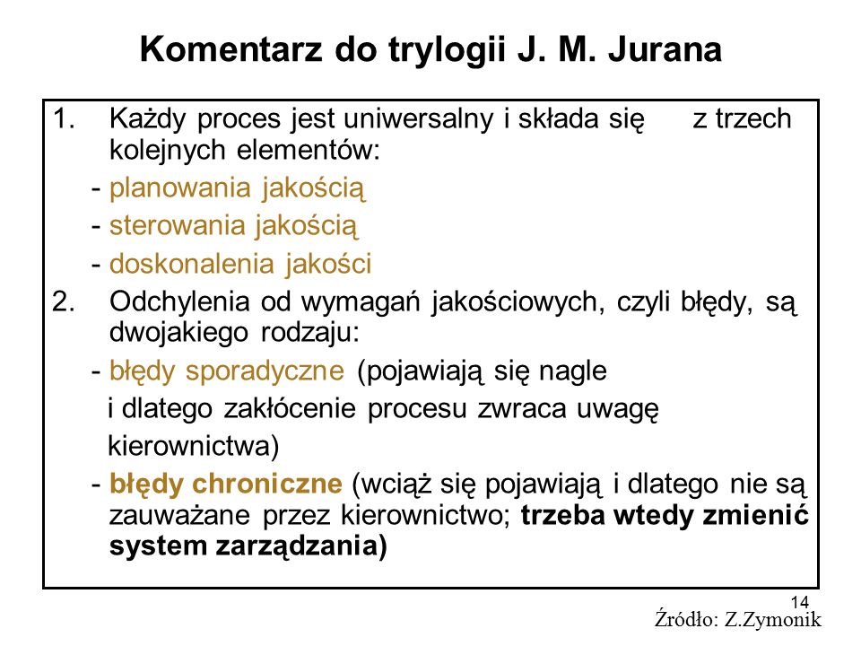 Komentarz do trylogii J. M. Jurana
