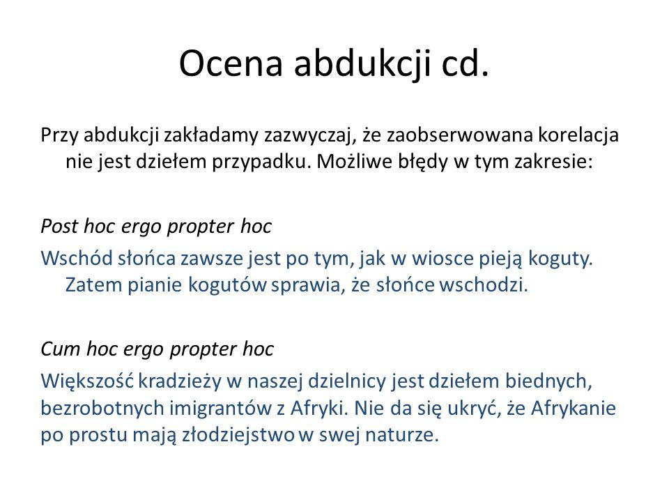 Ocena abdukcji cd.