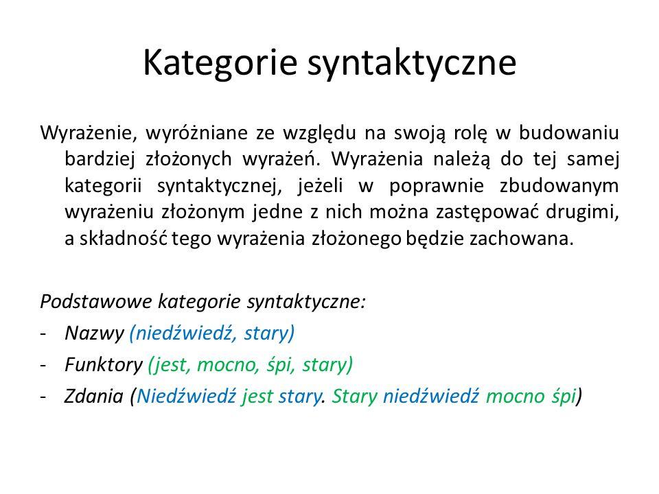 Kategorie syntaktyczne