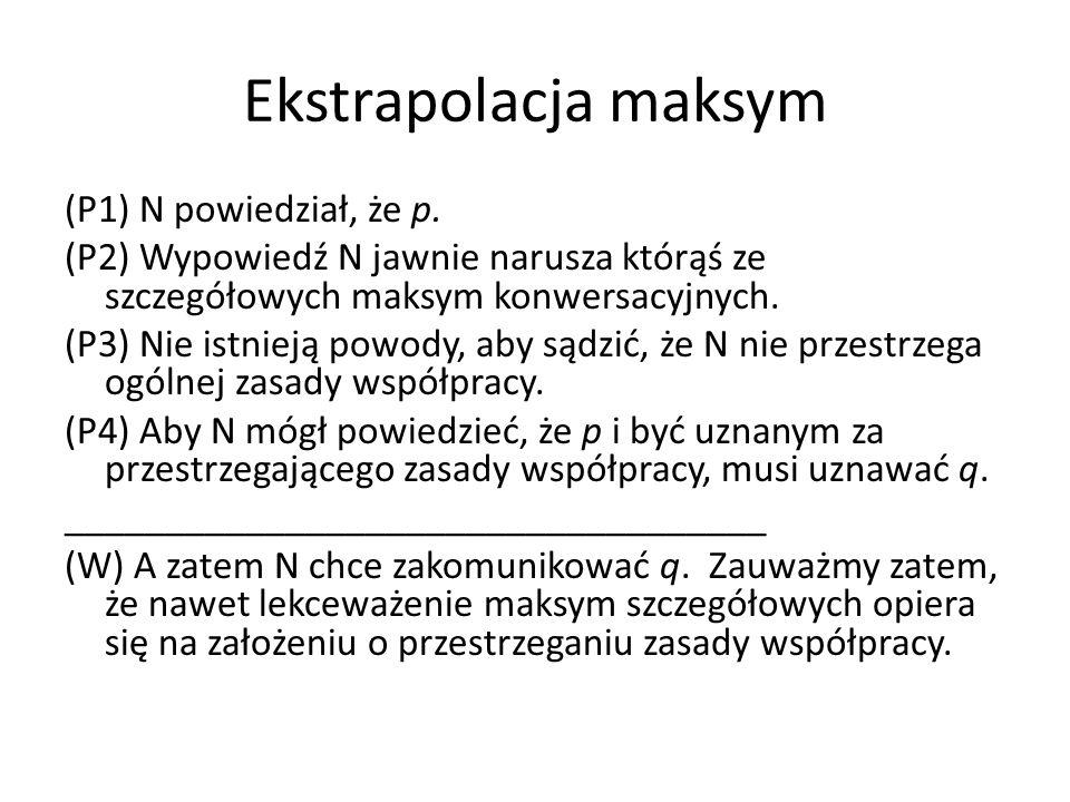 Ekstrapolacja maksym