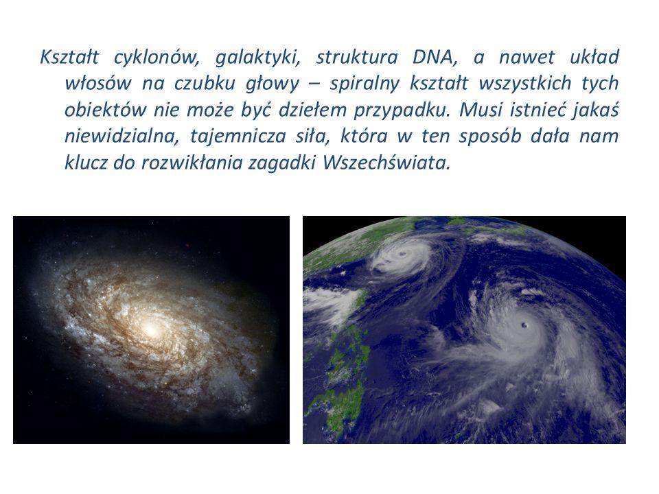 Kształt cyklonów, galaktyki, struktura DNA, a nawet układ włosów na czubku głowy – spiralny kształt wszystkich tych obiektów nie może być dziełem przypadku.