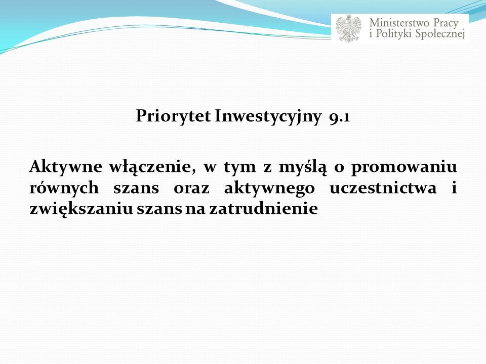 Priorytet Inwestycyjny 9