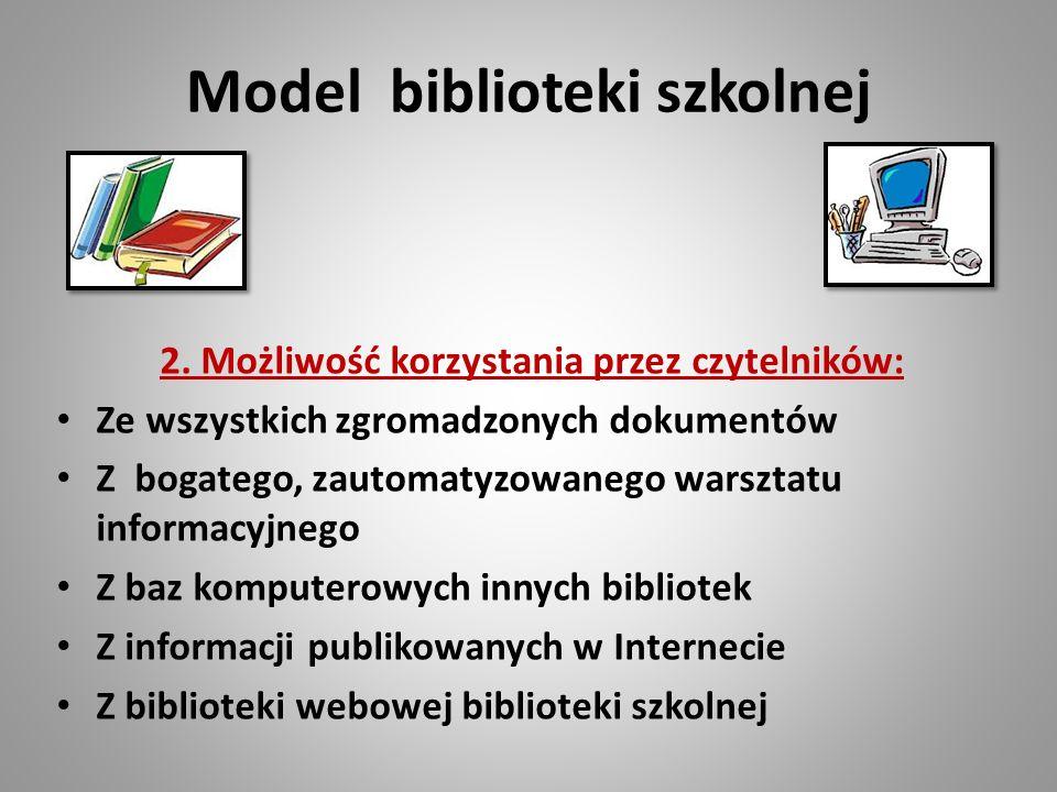 Model biblioteki szkolnej