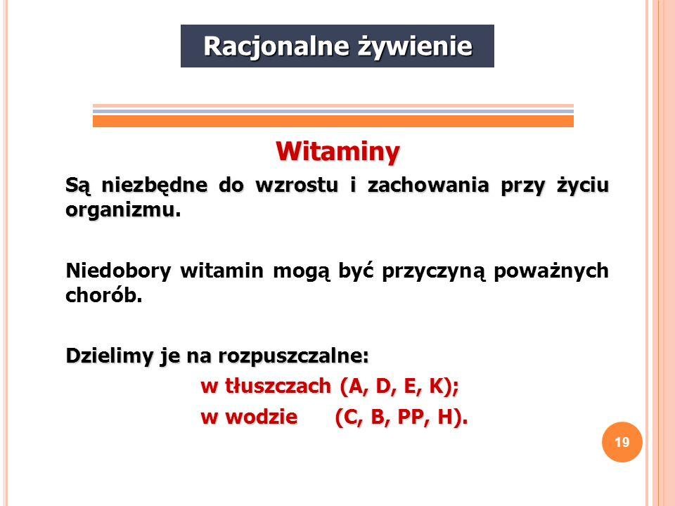 Racjonalne żywienie Witaminy