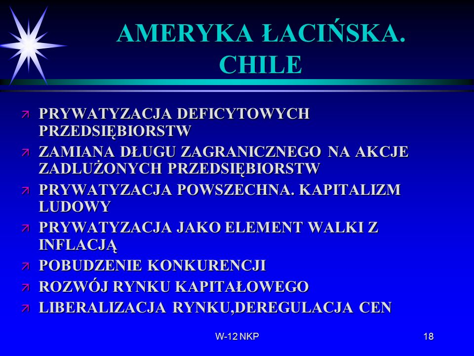 AMERYKA ŁACIŃSKA. CHILE