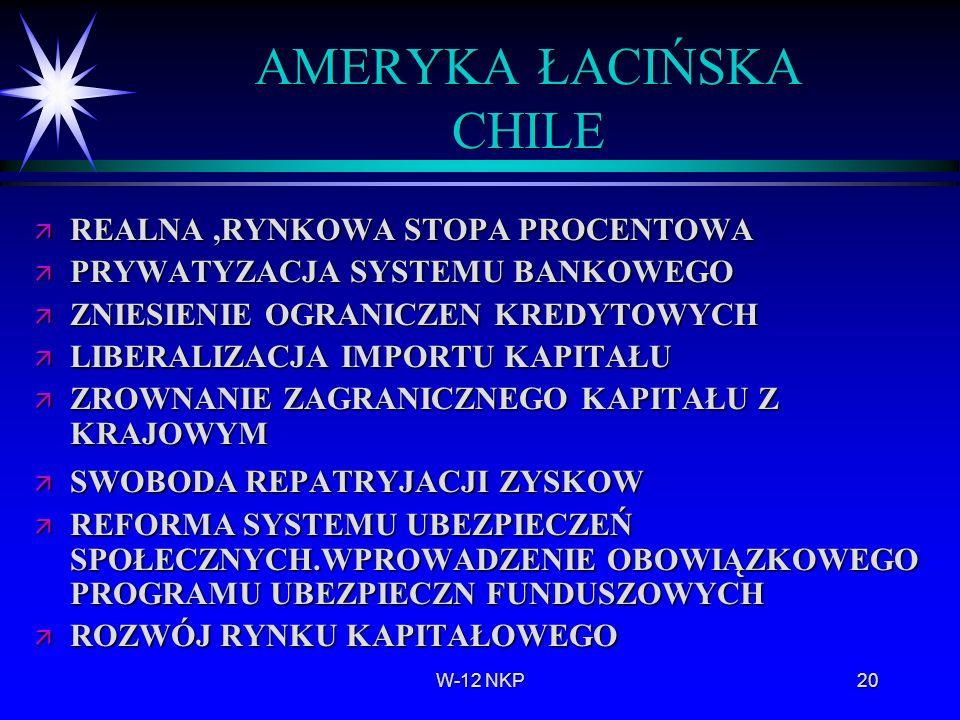 AMERYKA ŁACIŃSKA CHILE