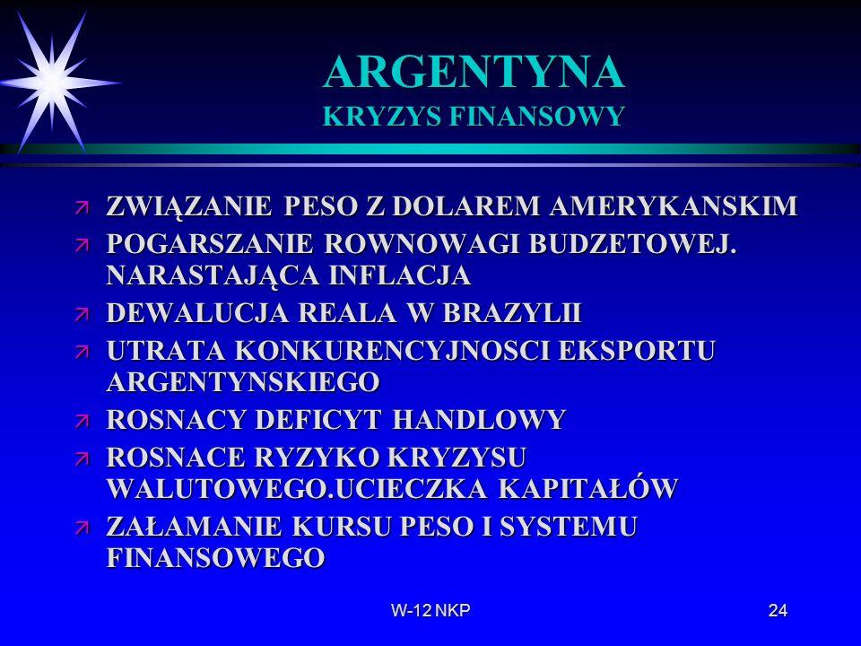 ARGENTYNA KRYZYS FINANSOWY