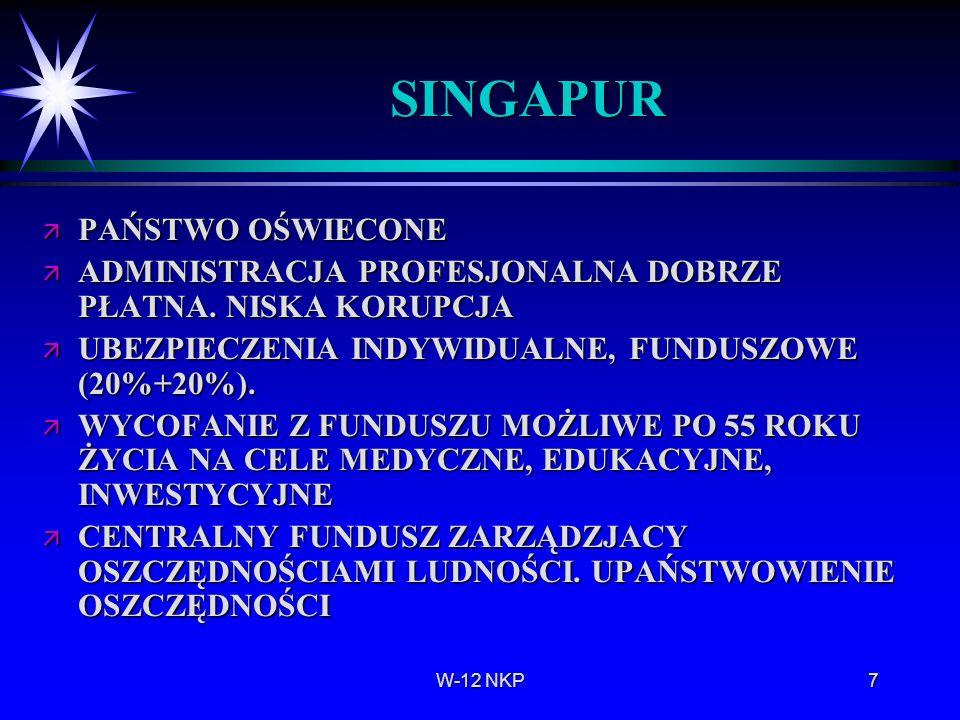 SINGAPUR PAŃSTWO OŚWIECONE