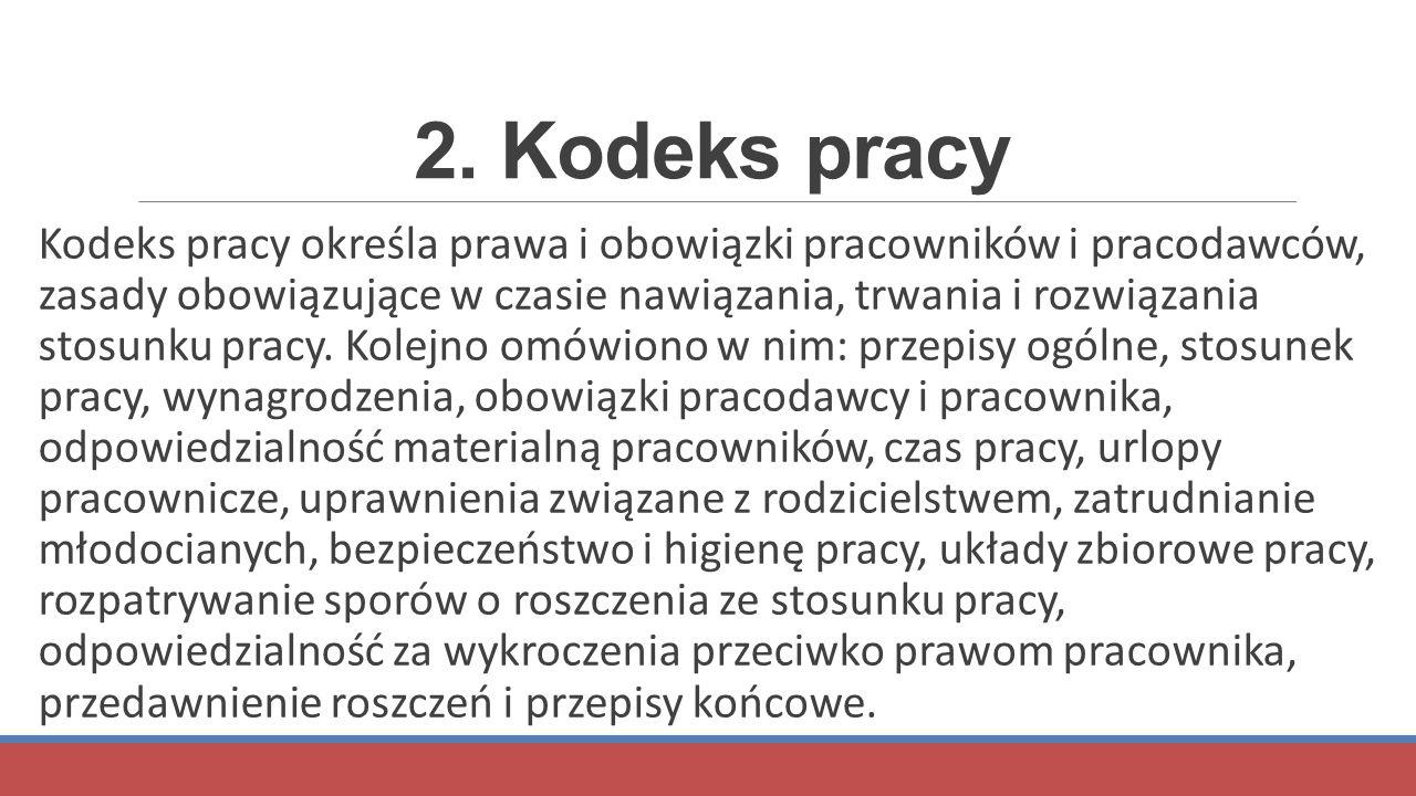 2. Kodeks pracy