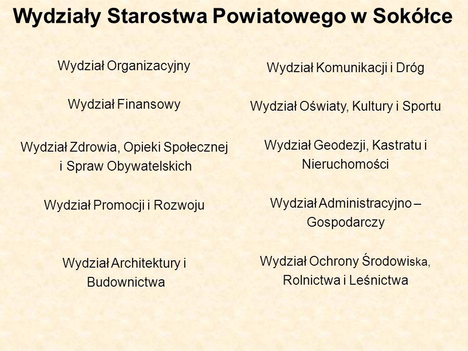 Wydziały Starostwa Powiatowego w Sokółce