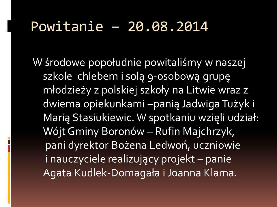 Powitanie – 20.08.2014