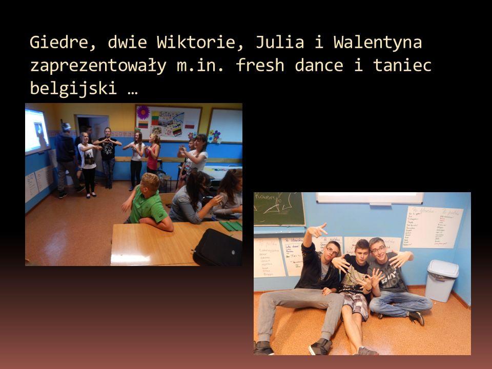 Giedre, dwie Wiktorie, Julia i Walentyna zaprezentowały m. in