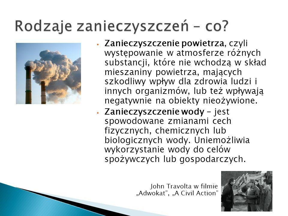 Rodzaje zanieczyszczeń – co