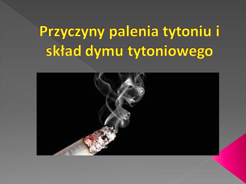 Przyczyny palenia tytoniu i skład dymu tytoniowego