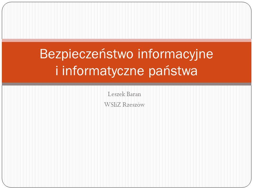 Bezpieczeństwo informacyjne i informatyczne państwa