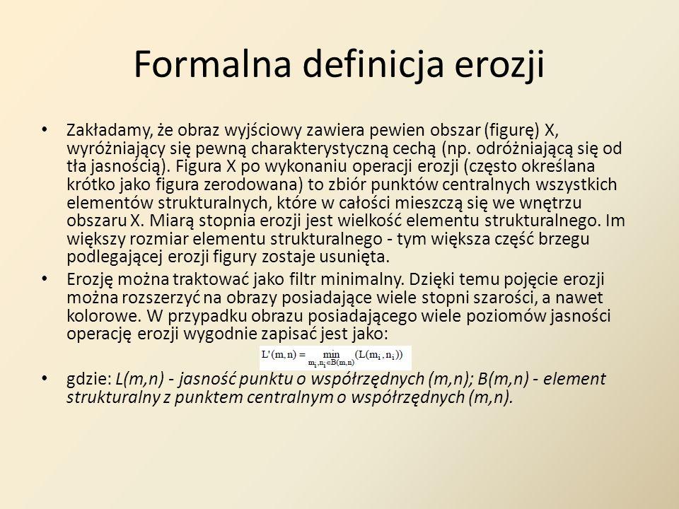 Formalna definicja erozji