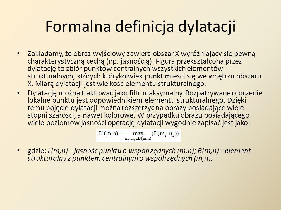 Formalna definicja dylatacji