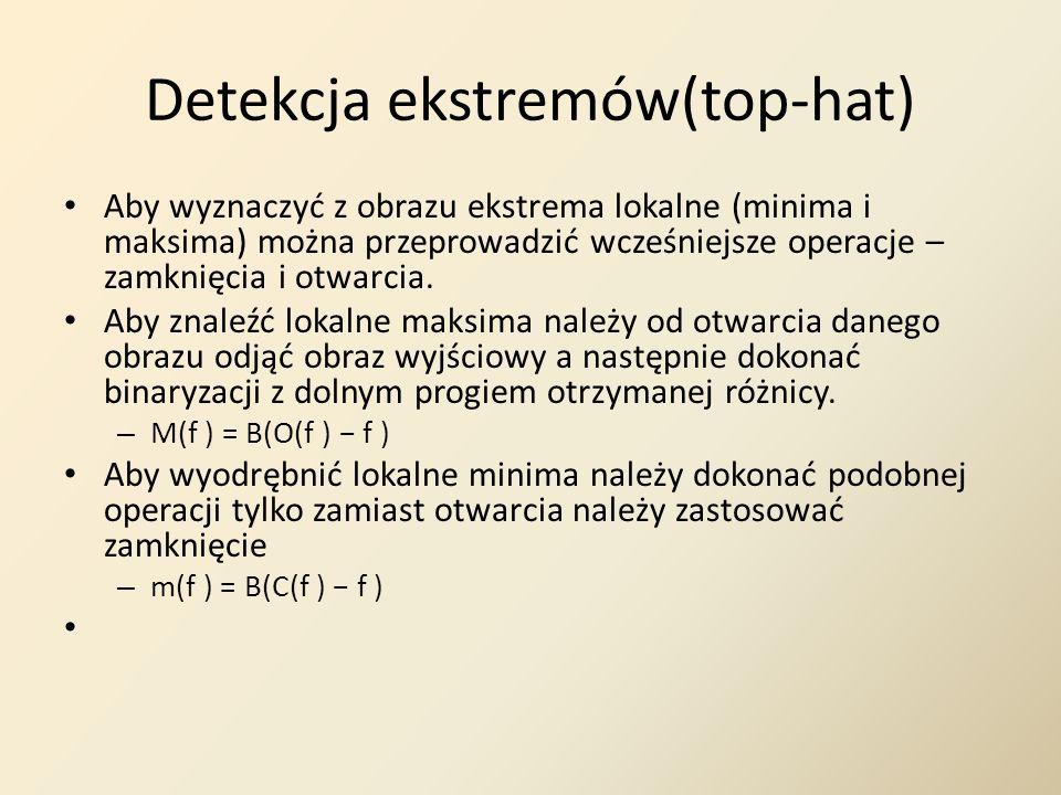 Detekcja ekstremów(top-hat)