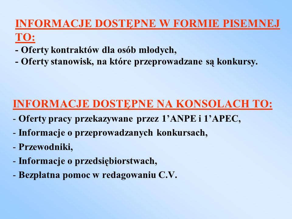 INFORMACJE DOSTĘPNE NA KONSOLACH TO:
