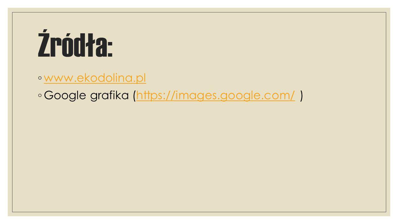 Źródła: www.ekodolina.pl Google grafika (https://images.google.com/ )