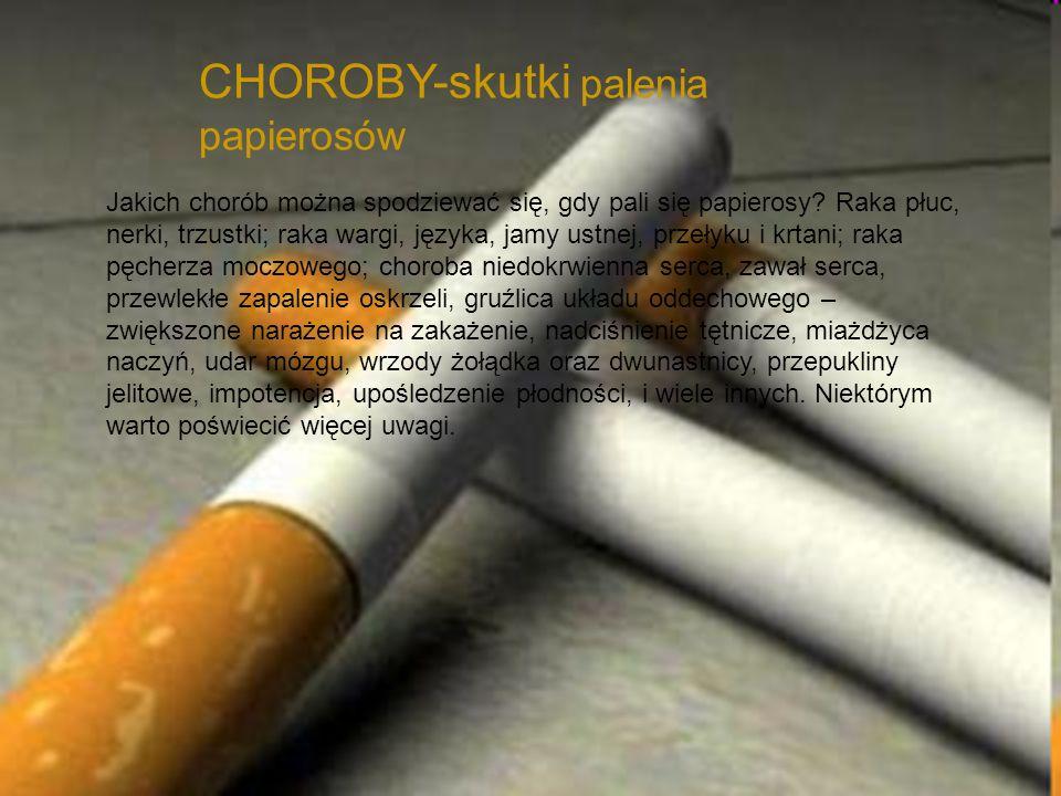 CHOROBY-skutki palenia papierosów