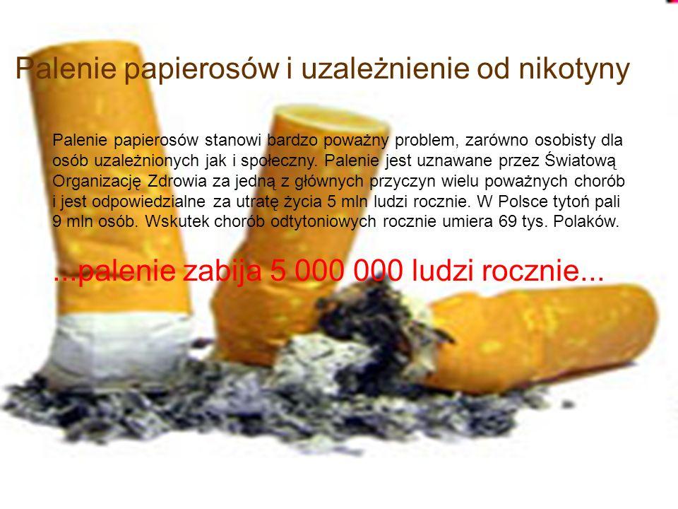 Palenie papierosów i uzależnienie od nikotyny
