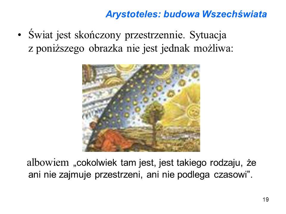 Arystoteles: budowa Wszechświata