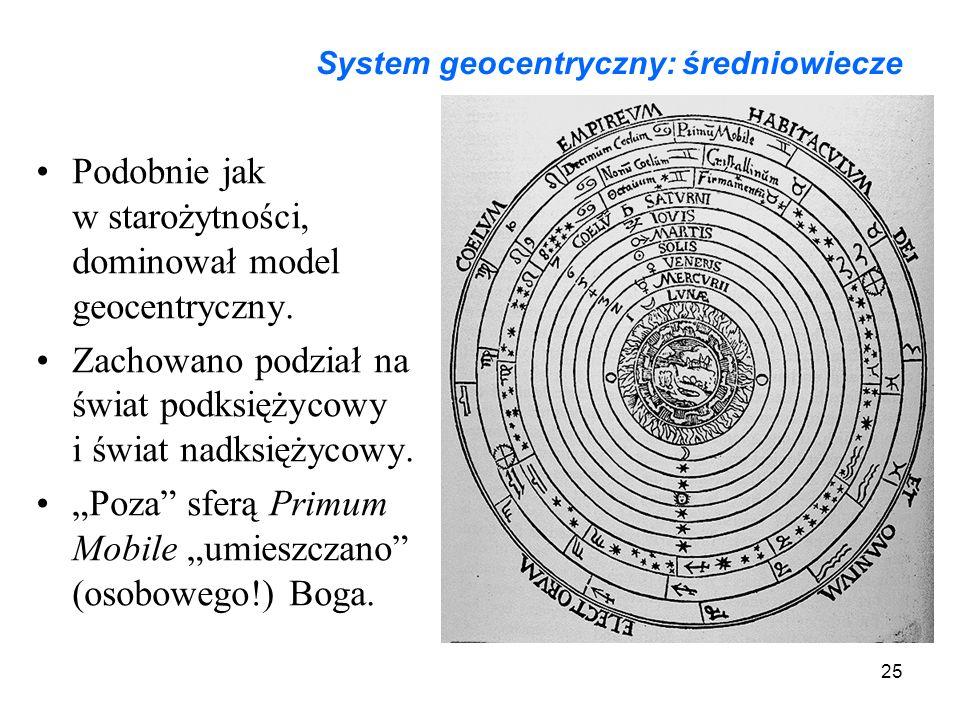 System geocentryczny: średniowiecze