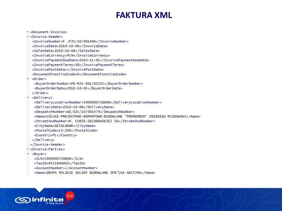 Faktura xml