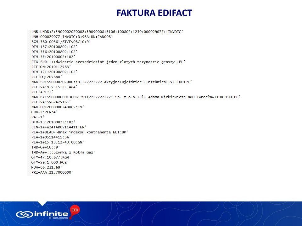 Faktura EDIFACT