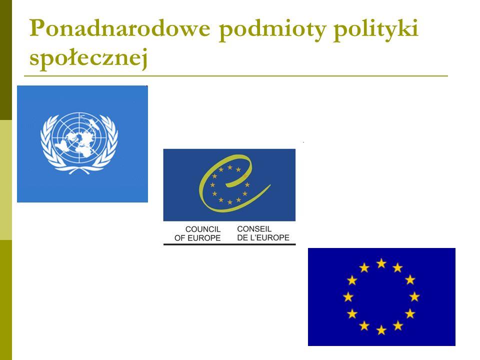 Ponadnarodowe podmioty polityki społecznej