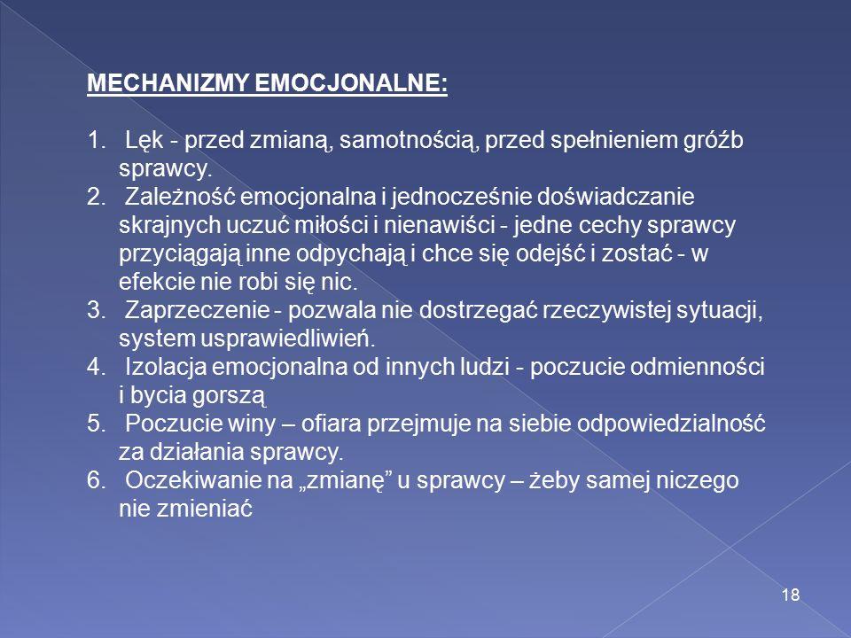 MECHANIZMY EMOCJONALNE: