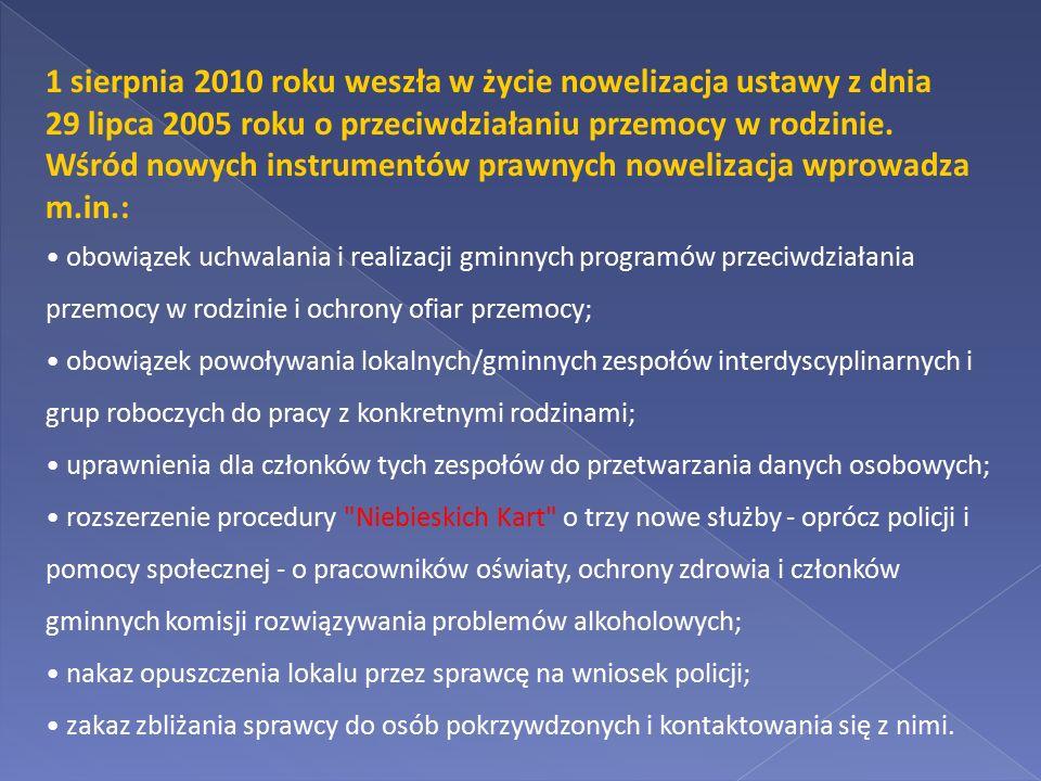 Wśród nowych instrumentów prawnych nowelizacja wprowadza m.in.: